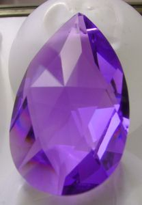 Pear 38mm (Swarovski)(coloured) ― Crystals NZ