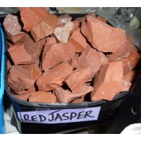 Jasper red rough pieces