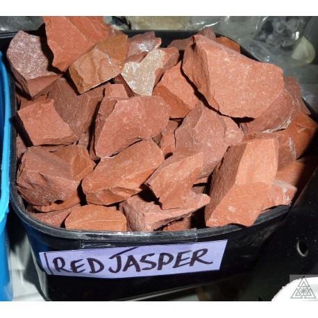 Jasper red rough pieces