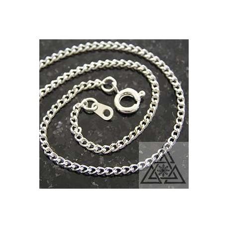 """Chain - Thin silver plate 18"""" curb chain"""