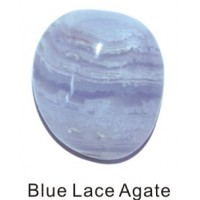 Tumbled Bluelace Agate