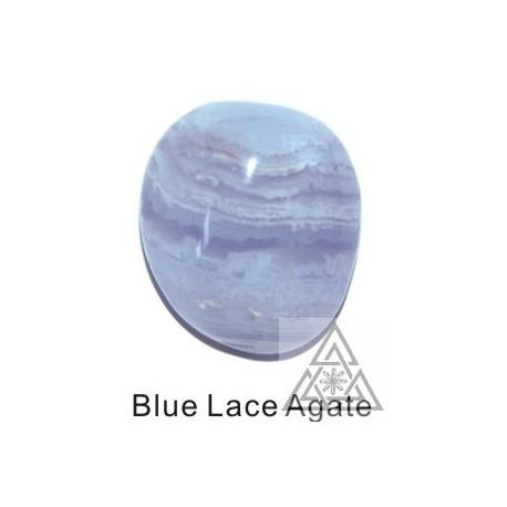 Tumbled Bluelace Agate