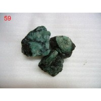 Emerald rough pieces