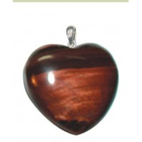 Heart Pendant in Crystal - sterling silver mount