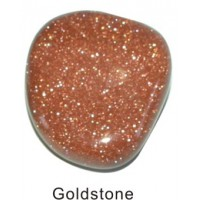 Tumbled Goldstone gold