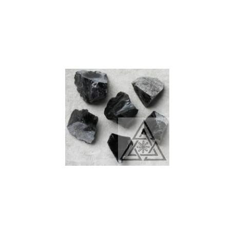 Obsidian black rough pieces
